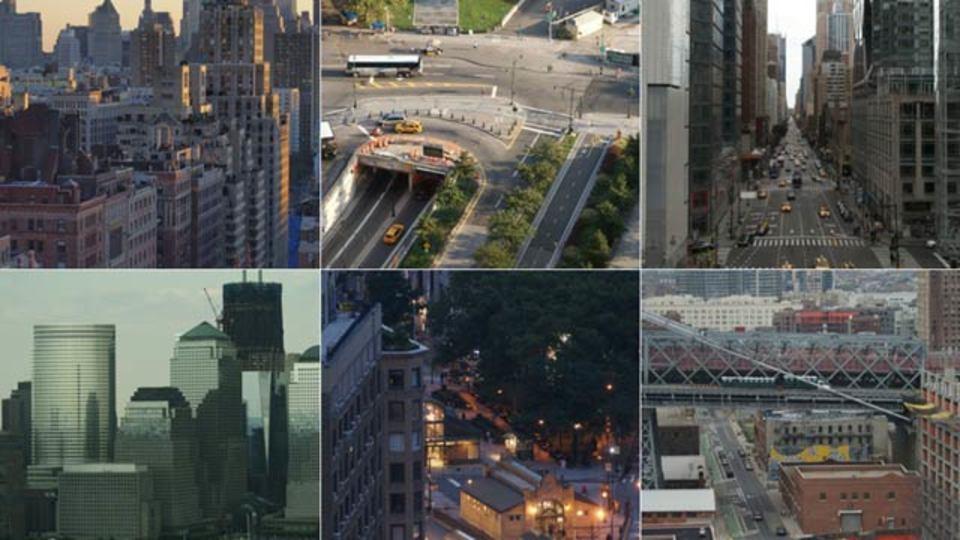 上からニューヨーク、あちこちの屋上から眺めるNYの街並