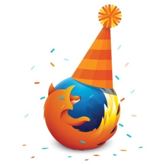 祝! Firefoxが9歳になったよ!