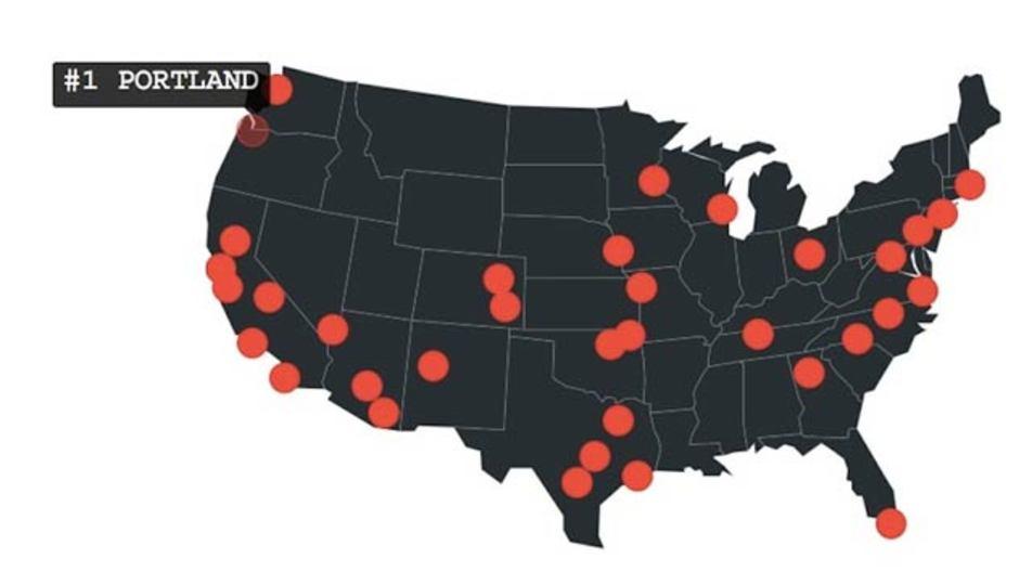 35歳以下が最も住みやすい米国の街はどこでしょう?
