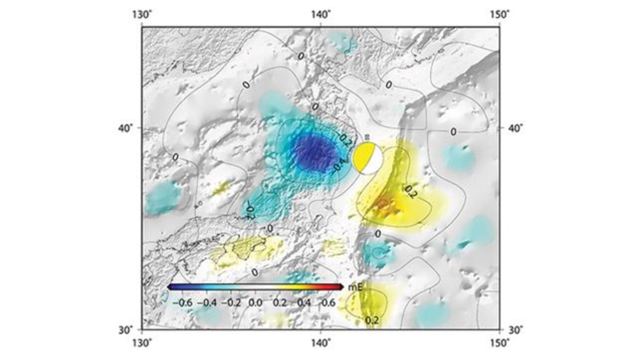 日本の地震で地球の重力が変動していたことが判明。着水したGOCE衛星のデータで