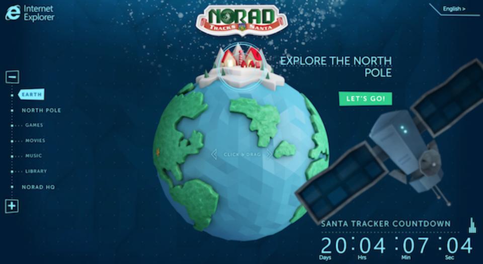 今年もあの人がやってくる! 北米の空を見守る「NORAD」によるサンタ追跡専用サイト(動画あり)