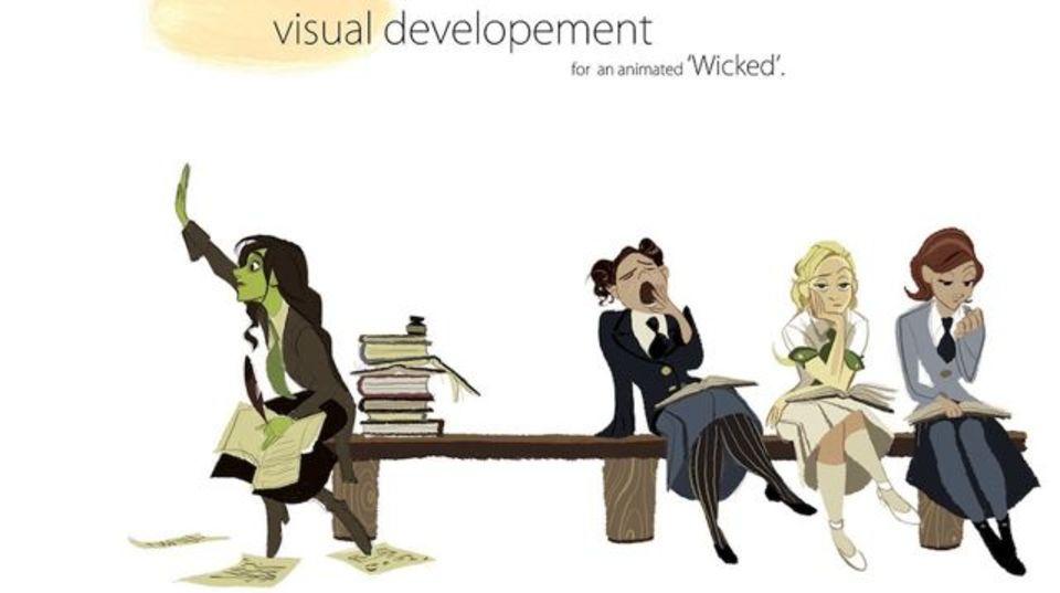 ディズニーアーティストがブロードウェイミュージカル『ウィキッド』をアニメキャラ化