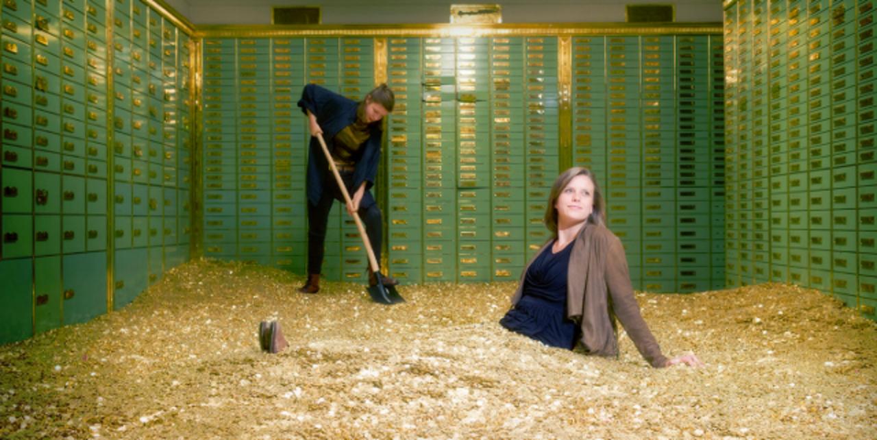 お金に埋もれて泳ぐ事もできるスイス銀行の金庫が販売中