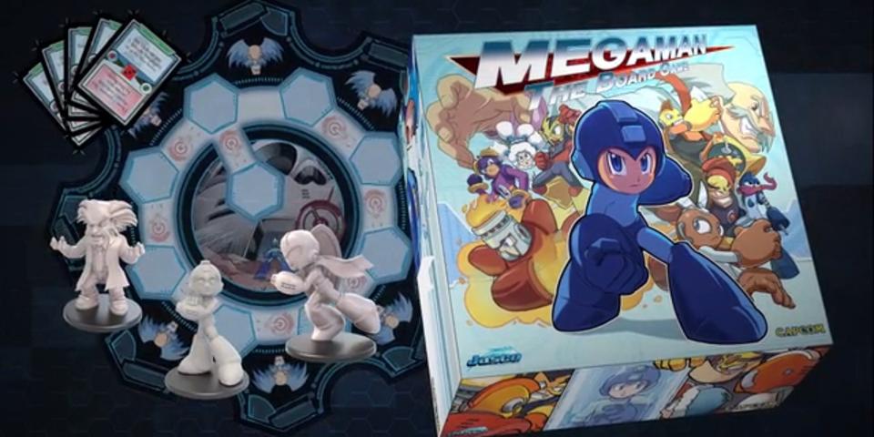 ロックマンのミニチュア付き公式ボードゲーム『Mega Man The Board Game』