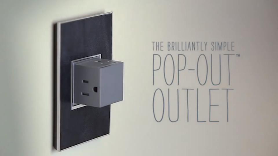 壁からポンッと飛び出すスマートなコンセント「Pop-Out Outlet」(動画あり)