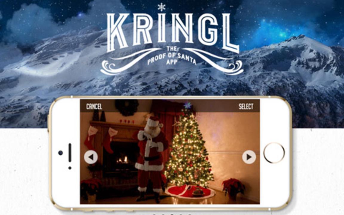 サンタを激写! プレゼントを届ける決定的瞬間をムービーにできるアプリ「Kringl」