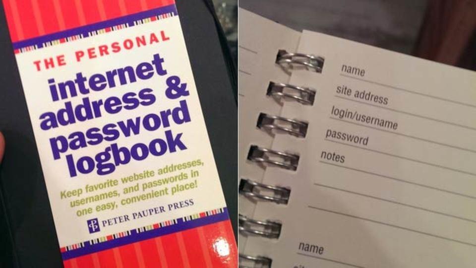 これはいかんでしょう…「インターネットアドレス&パスワード管理メモ帳」