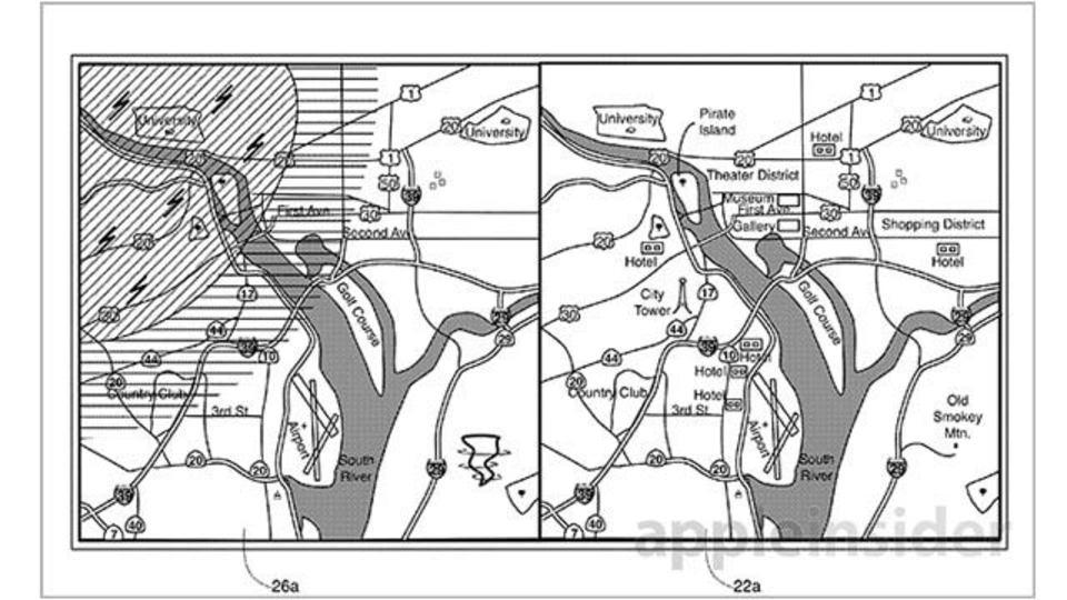 特許で見る次世代アップル地図、レイヤー追加でお店情報やフライト情報表示機能が