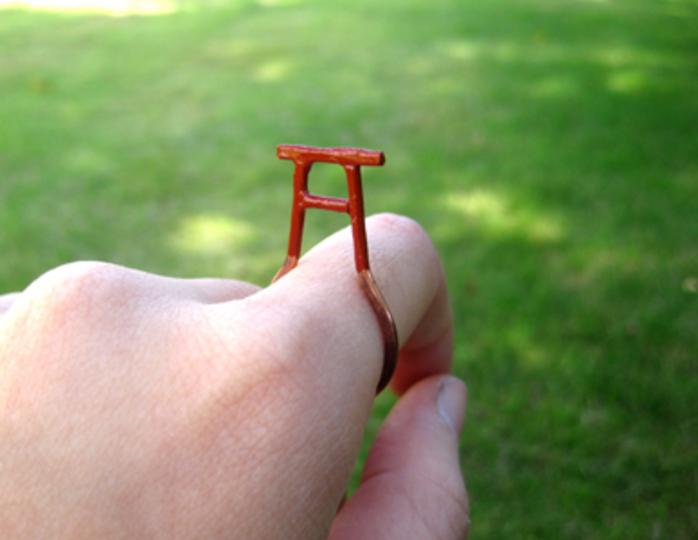 めでたかわいい! きみの指に鳥居リング