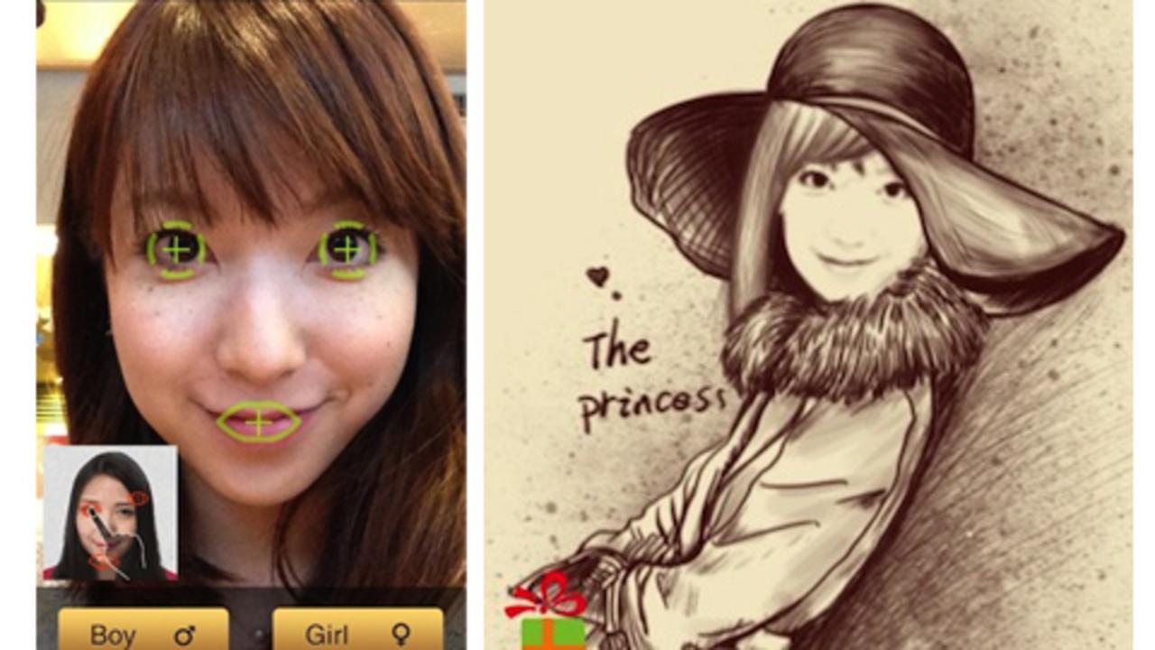 フェイスブックアイコンはこれに決まりかも。写真を似顔絵にしてくれるアプリ「momentcam」