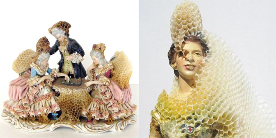 ミツバチとコラボレーションして生まれた、蜂の巣アート(写真ギャラリーあり)