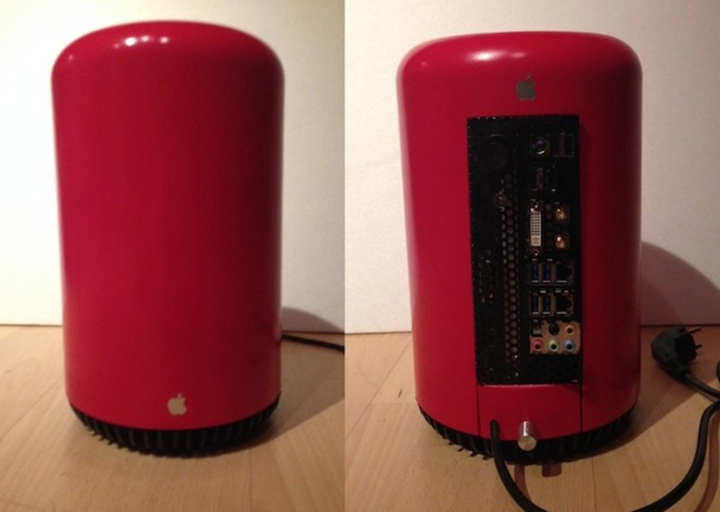 思ったよりカッコイイ! ゴミ箱から作ったMac Pro風パソコン