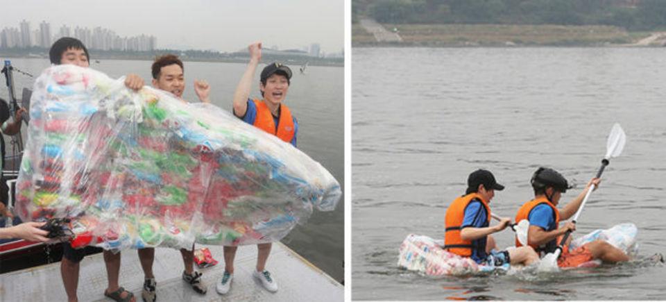 ポテチの袋160個で「浮く」ボートができることが判明