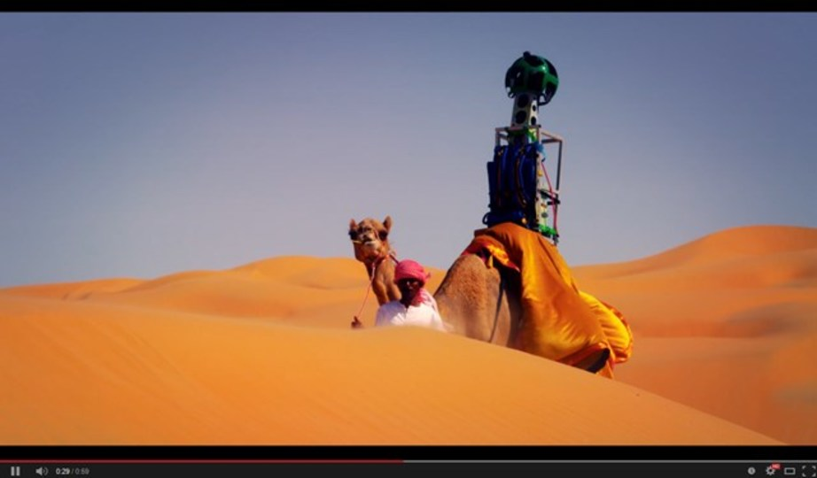 アラブ首長国連邦のリワ砂漠を散歩してみませんか。Googleストリートビューでね!