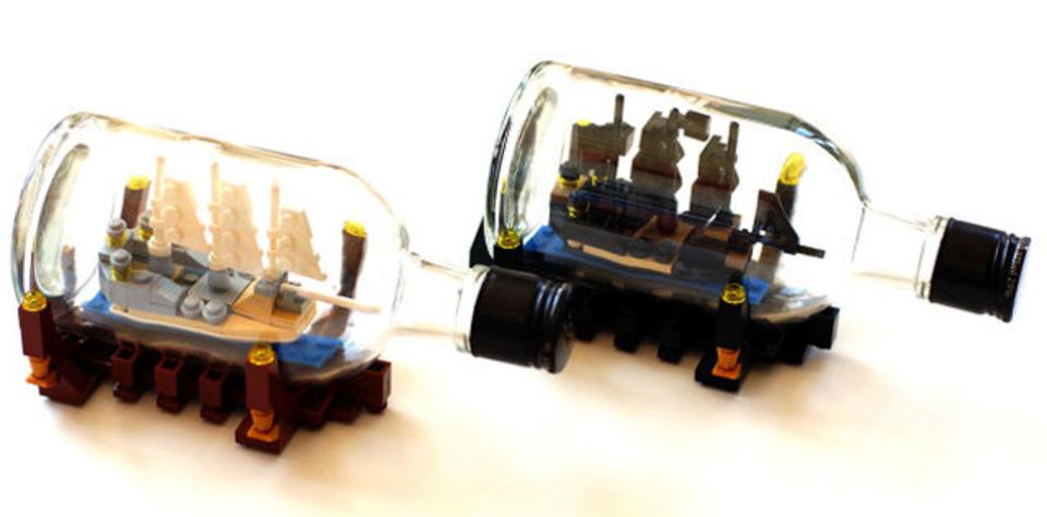ボトルシップをレゴで作る!