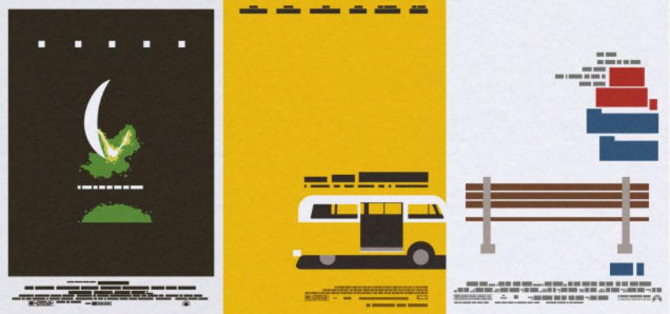 名作映画のポスターは、人や文字の要素を抜いても名作