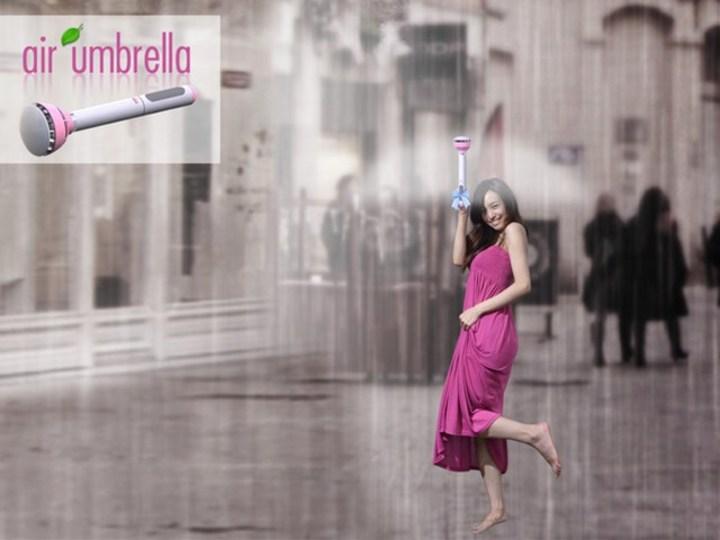 空気の力で雨粒をはじく次世代傘「Air umbrella」
