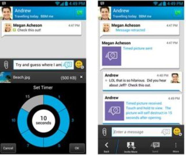 送信後でも消せるメッセージングアプリがBlackBerryから登場?