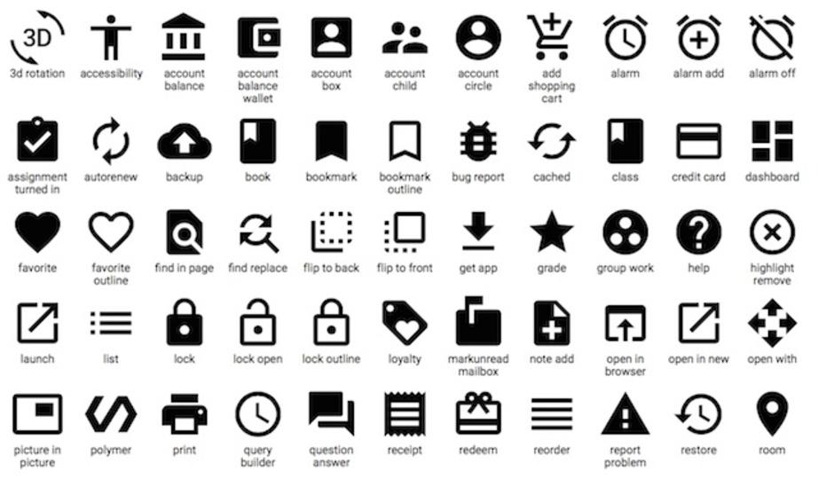 グーグル、ウェブやアプリにも使える「マテリアル・デザイン」なアイコンをリリース