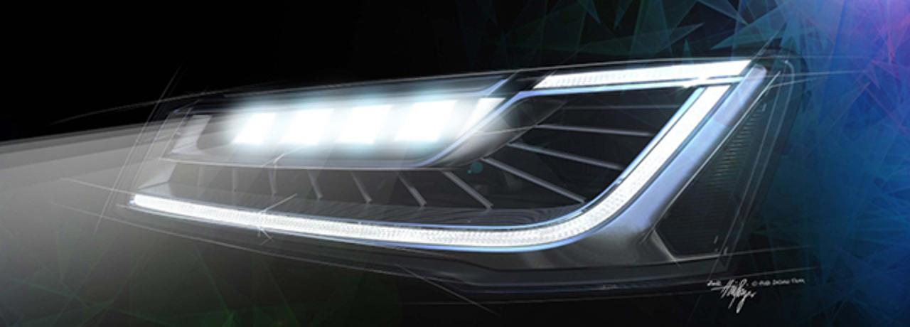 アウディA8のヘッドライトはまぶしくならないように、優しさ設計でできてる