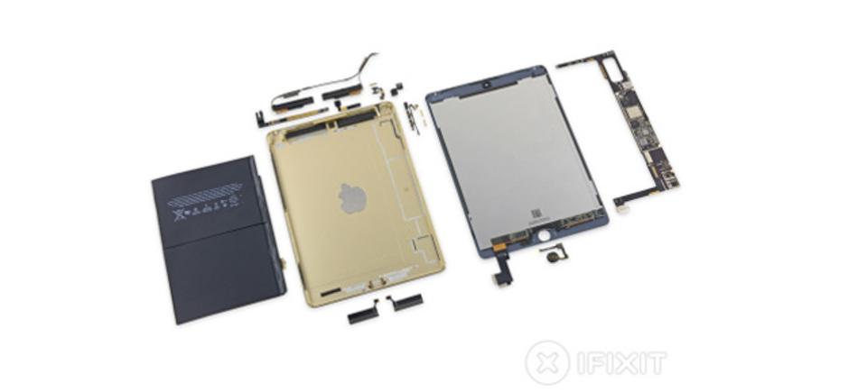 iPad Air 2解剖! バッテリー小さいね