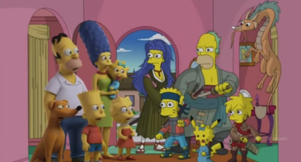 ザ・シンプソンズをあのアニメやこのアニメ風に