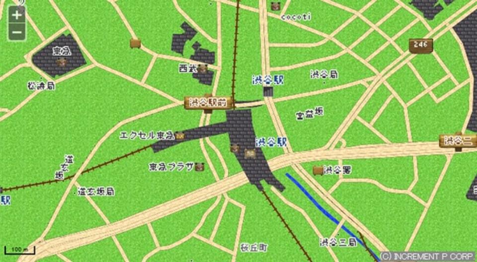 ひのきのぼうを携えて旅立ちたくなるRPG風地図サービス