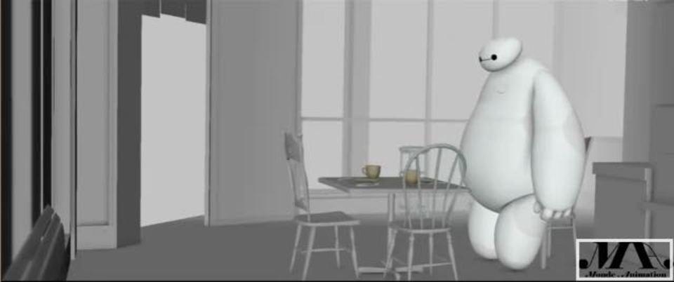 性格がよくわかる「ベイマックス」のカフェ来店マナー映像