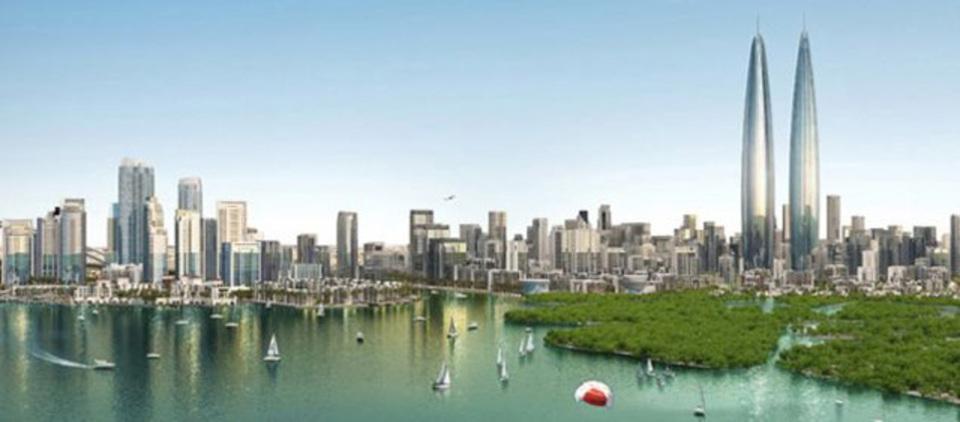 ドバイ最新建築事情、葉巻みたいなツインタワー計画あり