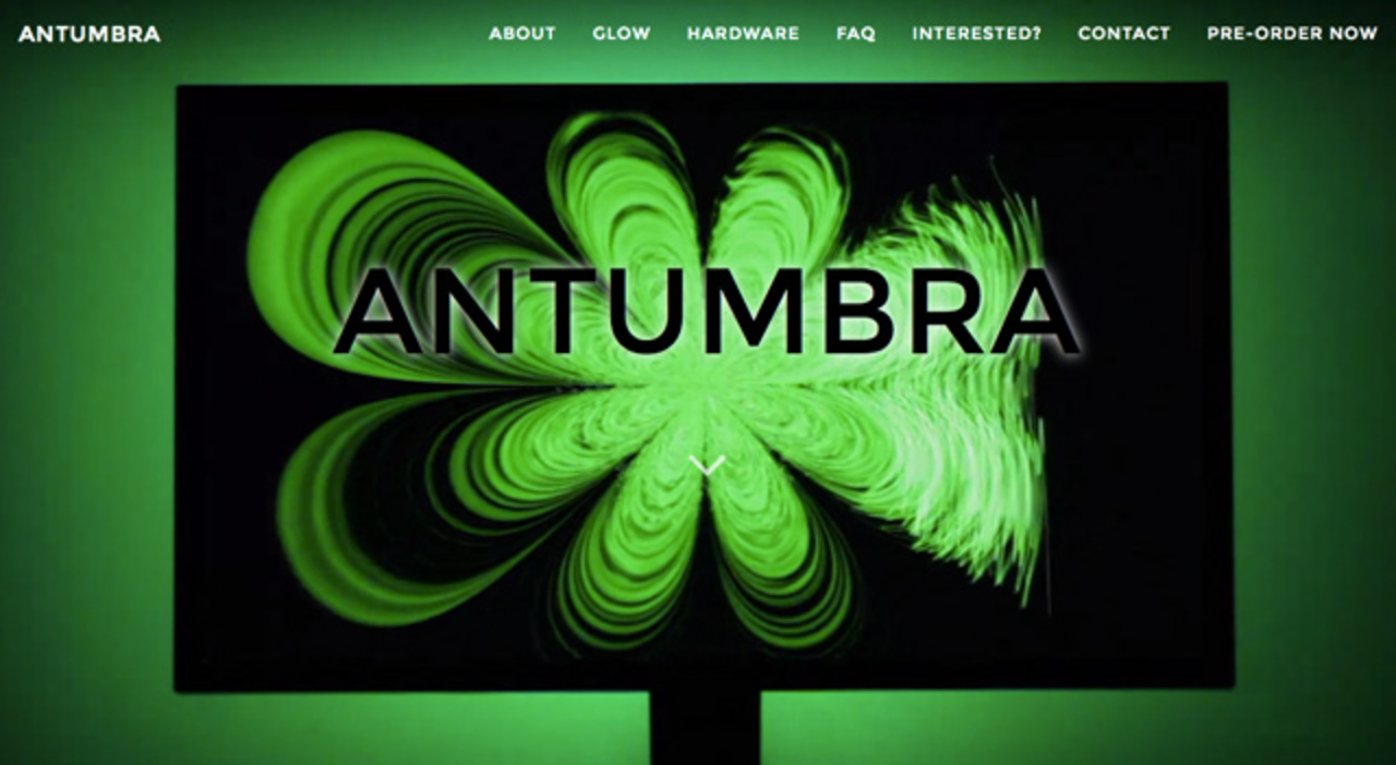 ディスプレイ内の映像世界を光で拡張する「Antumbra」
