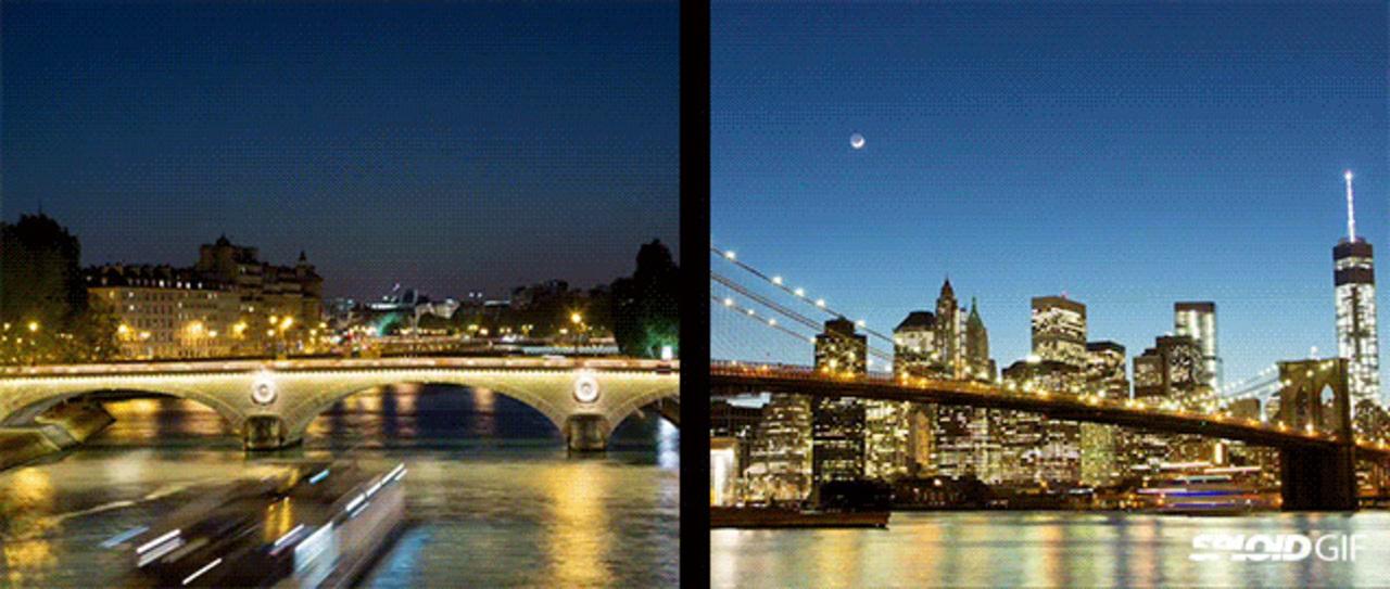 パリとNY、その共通点がよくわかるタイムラプス動画
