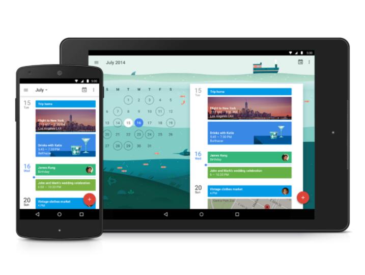 マテリアル・デザインの新しいGoogle Calendarが登場