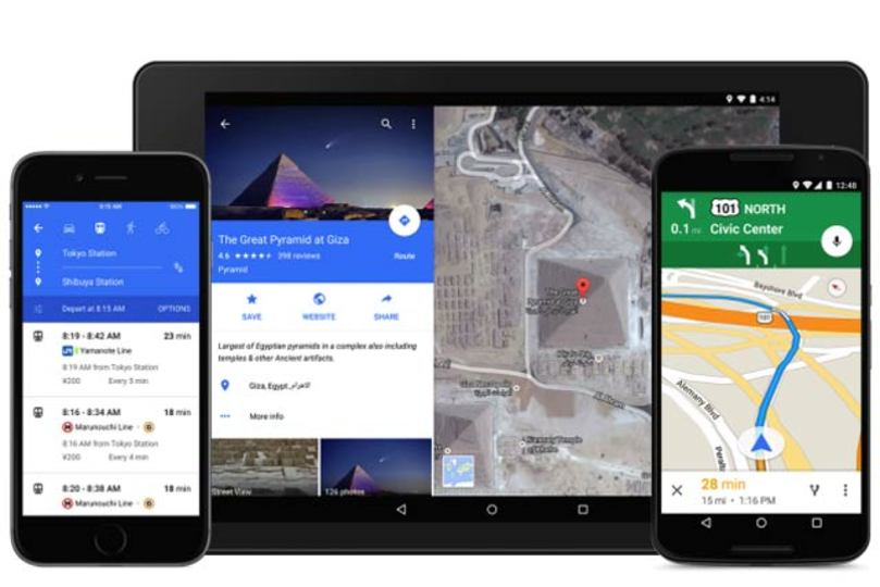 グーグル新マップアプリ、デザイン一新でお店の予約も可能に