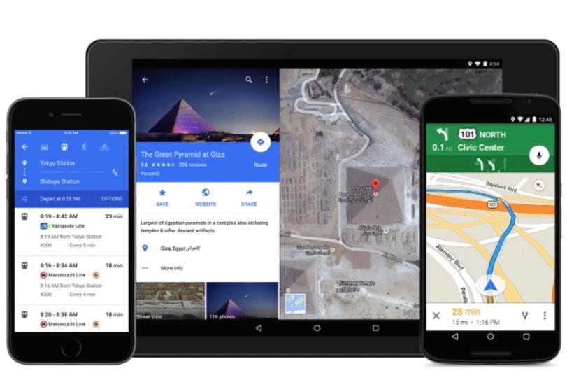 Googleマップがマテリアルデザイン化とiOS8に対応