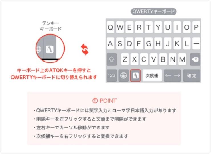 ATOK for iOSが待望のQWERTYキーボード対応。入力文字も見やすく
