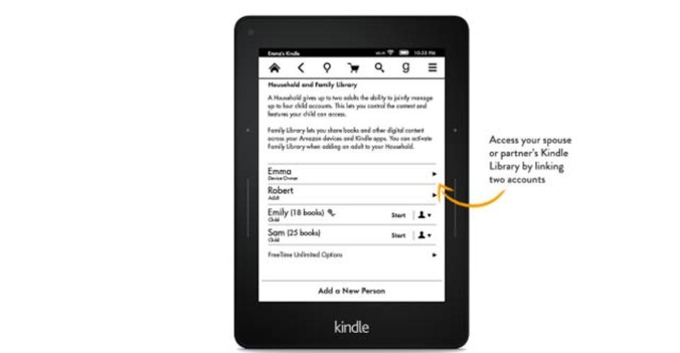 Kindleにファミリープラン登場、電子書籍のシェアが可能に