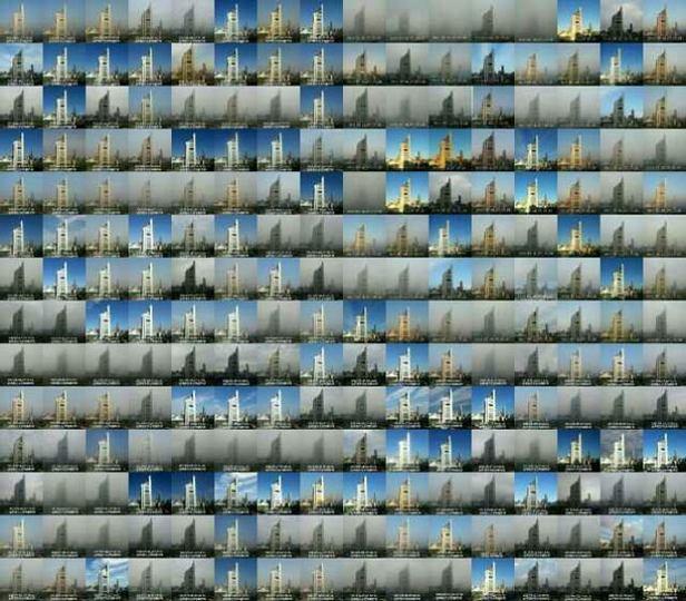 365日並べてみる北京の大気汚染