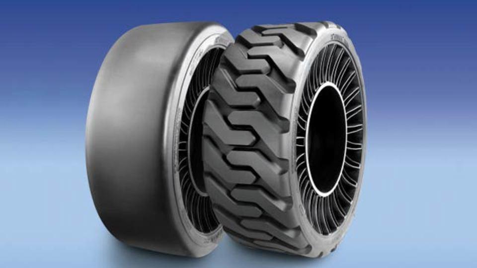 ミシュランが空気なしのタイヤを開発中。走る様子はこのように