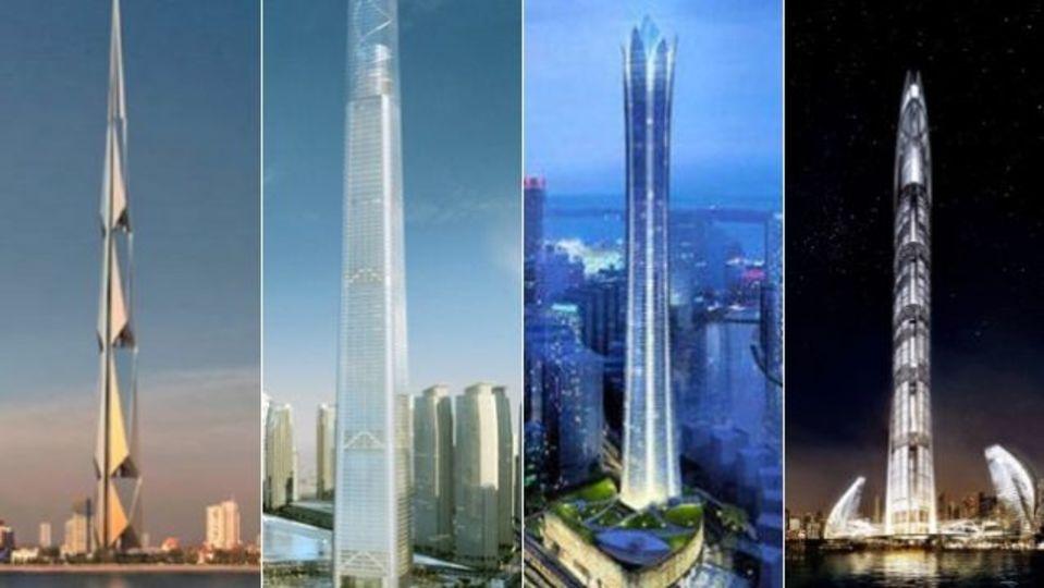 未完の超高層建造物6棟、その悲しき運命
