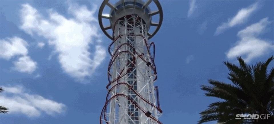 世界一の高さから落下するジェットコースター