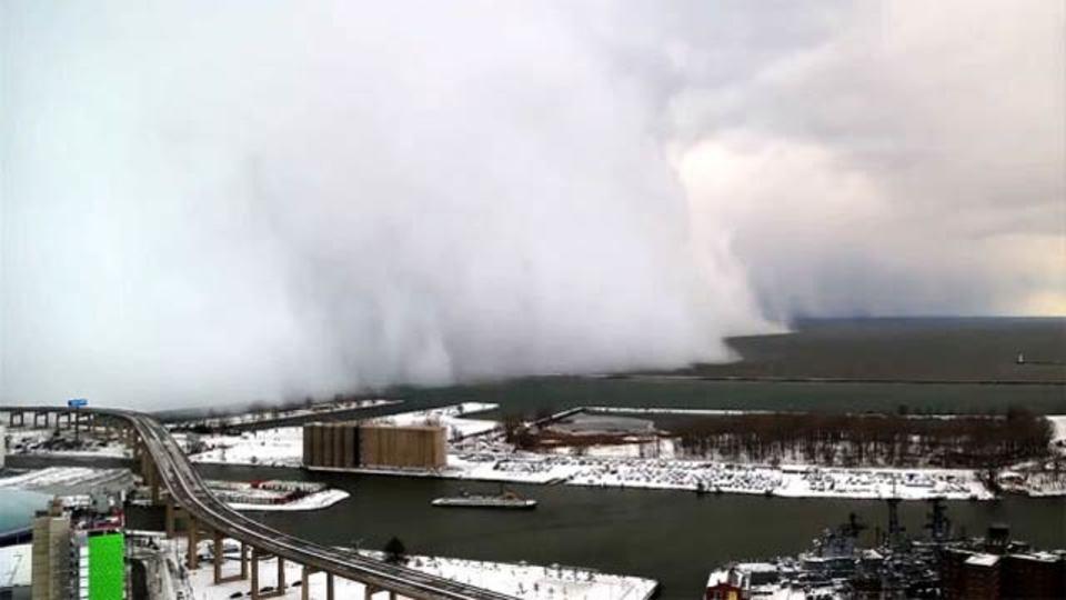 米国を襲う異例の大寒波、その様子がタイムラプス動画に