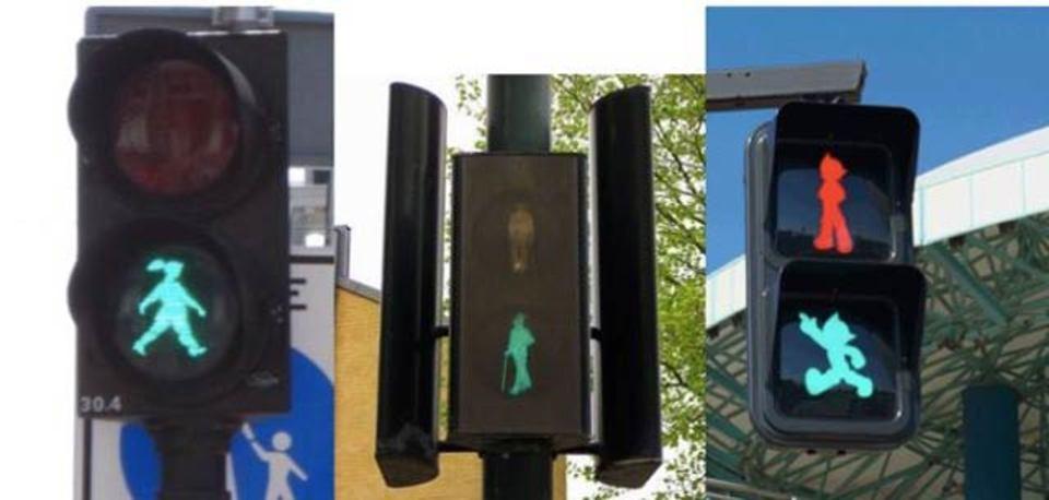 ずっと見ていたくなる世界の歩行者用信号機
