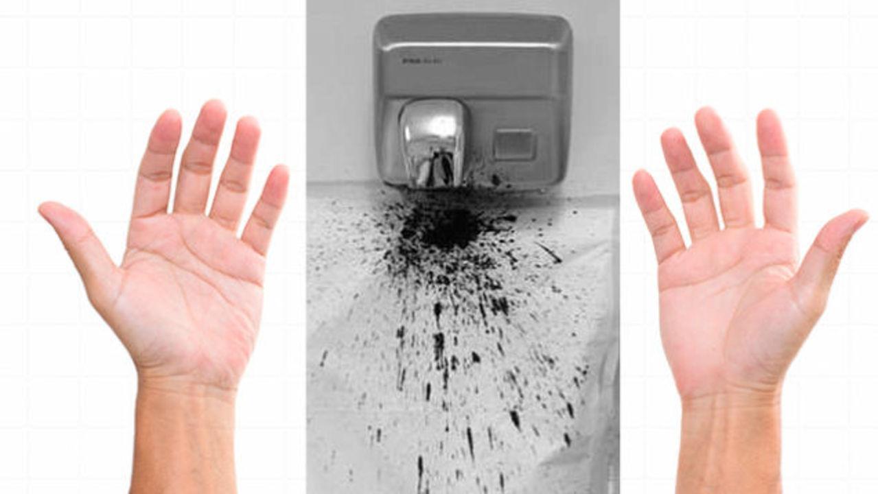 ハンドドライヤーは細菌をまき散らしてることが判明