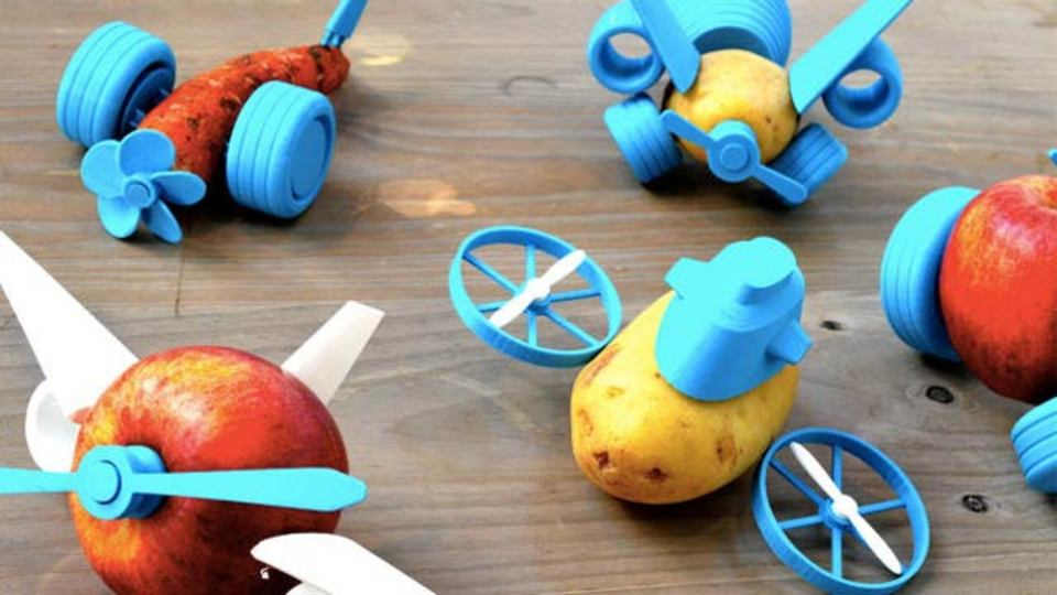 ピーマンも人参も走り出す! 3Dプリンターで作るちょっとしたパーツ