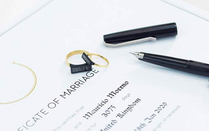 「契約終了まであと〇〇日です」とカウントダウン表示する結婚指輪