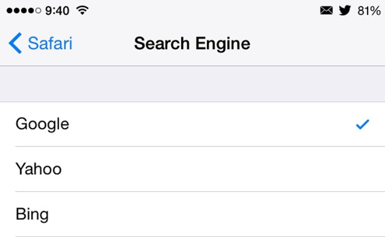 iPhoneのデフォルト検索機能がYahooやBingになる可能性アリ?