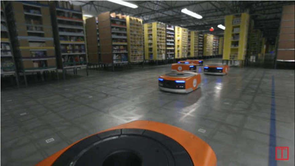 ロボットがアマゾンの倉庫作業員を救う?