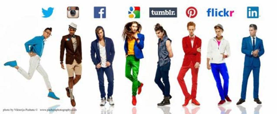 インスタグラムやツイッターなど、各SNSぽいファッション