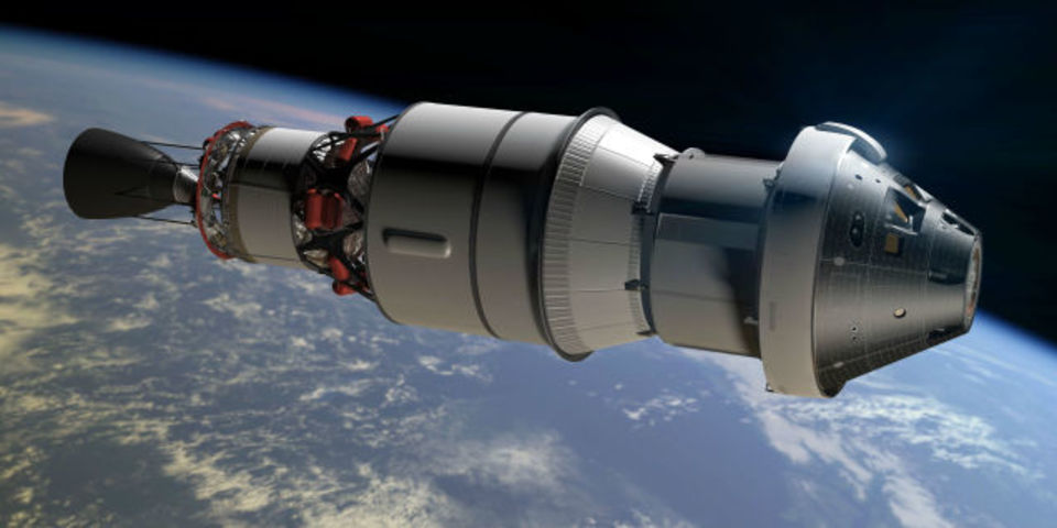 本日は中止。火星を目指す宇宙船「オリオン」打ち上げ中継の様子