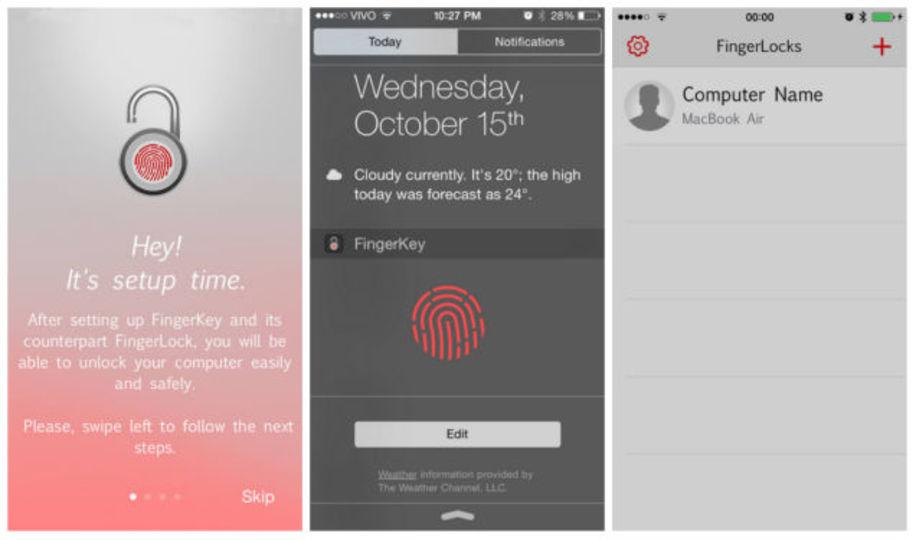 iPhoneのTouch IDでMacにログインできるアプリ「FingerKey」